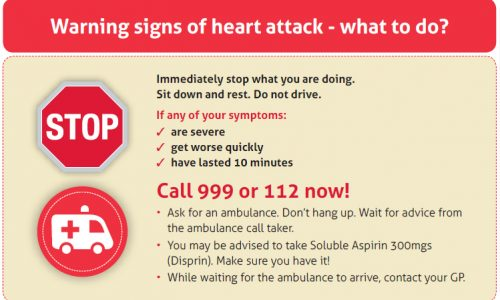 Warning Signs of A Heart Attack | Croi Heart & Stroke Charity