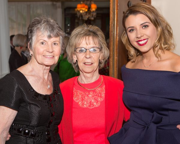 "Noreen Murphy, Portumna, Deirdre Flynn, Ahascragh and Claire Henry, Galway Clinic pictured at Galway Clinics ""Afternoon Tea in aid of Croí"", at the Glenlo Abbey Hotel. Photo Martina Regan"