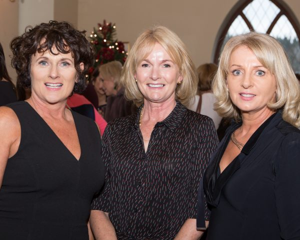 "Ann Langan, Taylors Hill, Mary Treacy, Devon Park and Karen Crowley, Taylors Hill pictured at Galway Clinics ""Afternoon Tea in aid of Croí"", at the Glenlo Abbey Hotel. Photo Martina Regan"