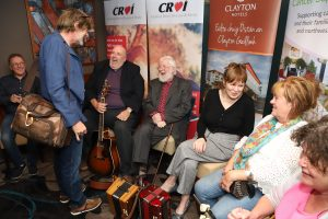 Musicians Paddy Clancy, Sean Keane, Don Stiffe, Joe Keane, Anne Conroy, Jacqueline and Marion McCarthy. Photo: Brian Harding.