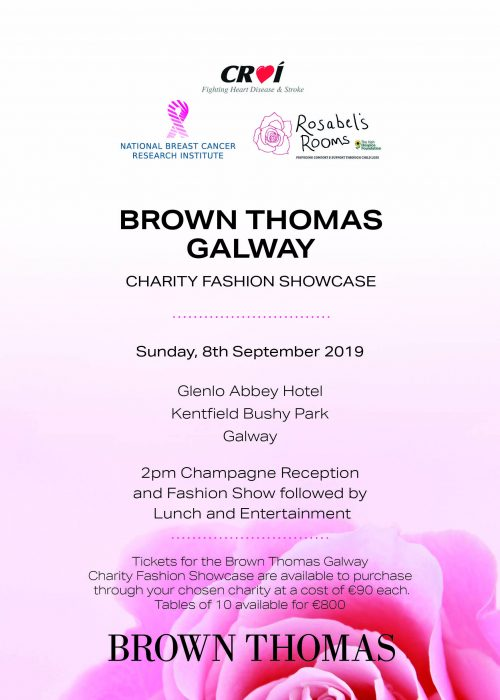 Galway Charity Fashion Showcase A5 poster