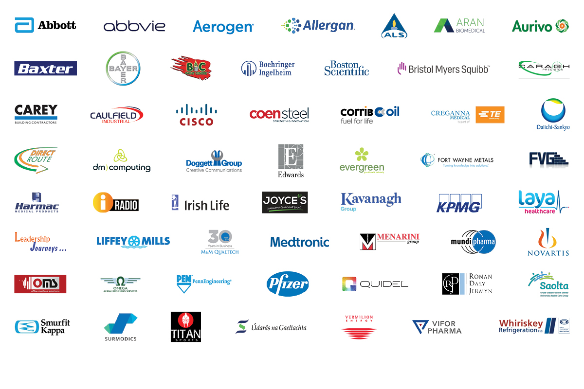 Croí corporate supporters - all logos 2020